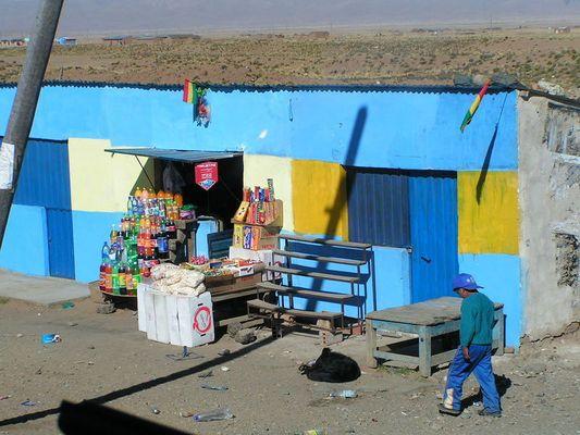 Laden in blau