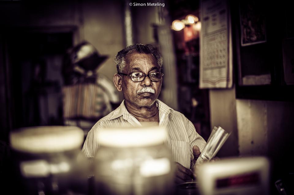 Ladenbesitzer in Indien
