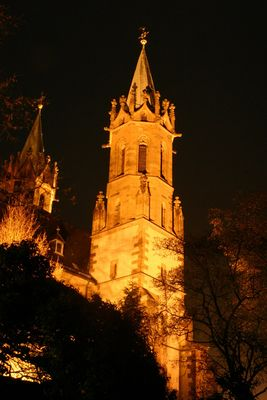Ladenburger Kirche in der Osternacht