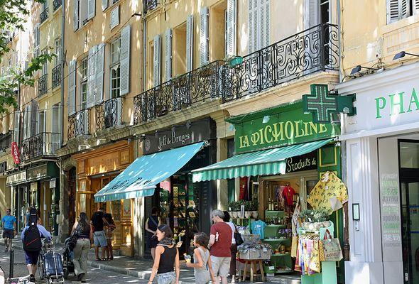 Ladenstraße in Aix en Provence