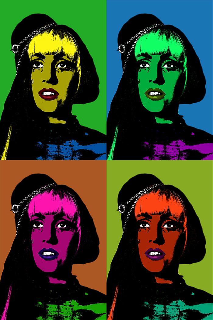 Lady Gaga in Warhol Version