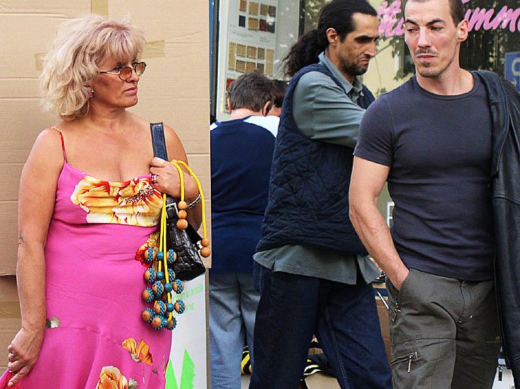 lady in pink und antonio riskiert ein blick