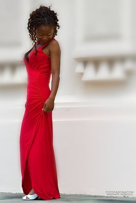 Lady in red .....