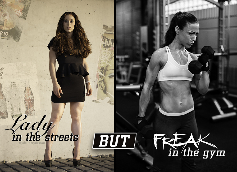 LADY in the streets but FREAK in the gym
