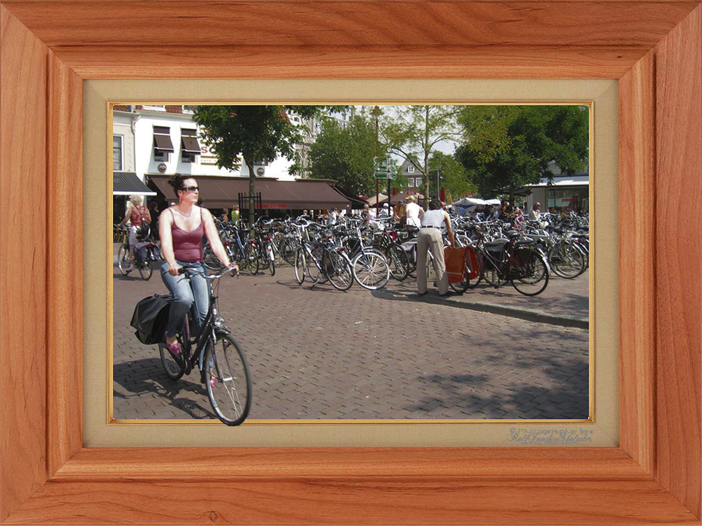 '' Lady on Bicycle ''