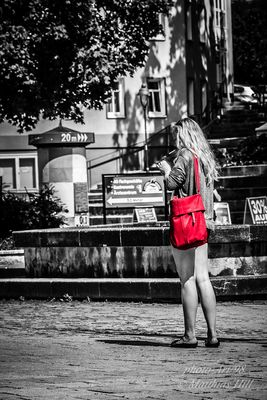 lady red bag