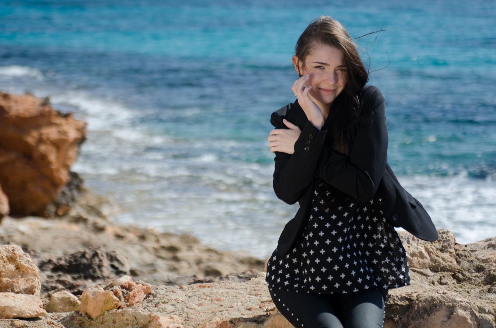 Lächeln am Meer