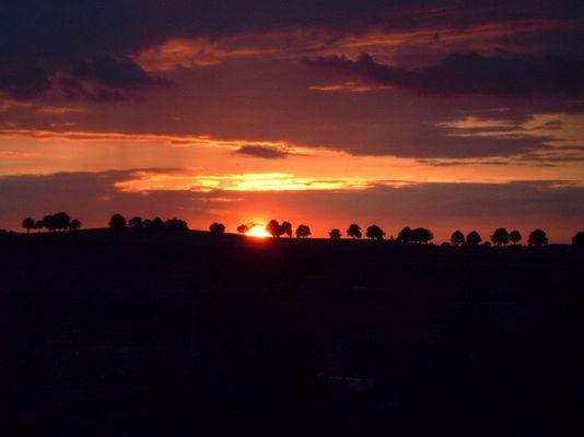ländlicher Sonnenuntergang