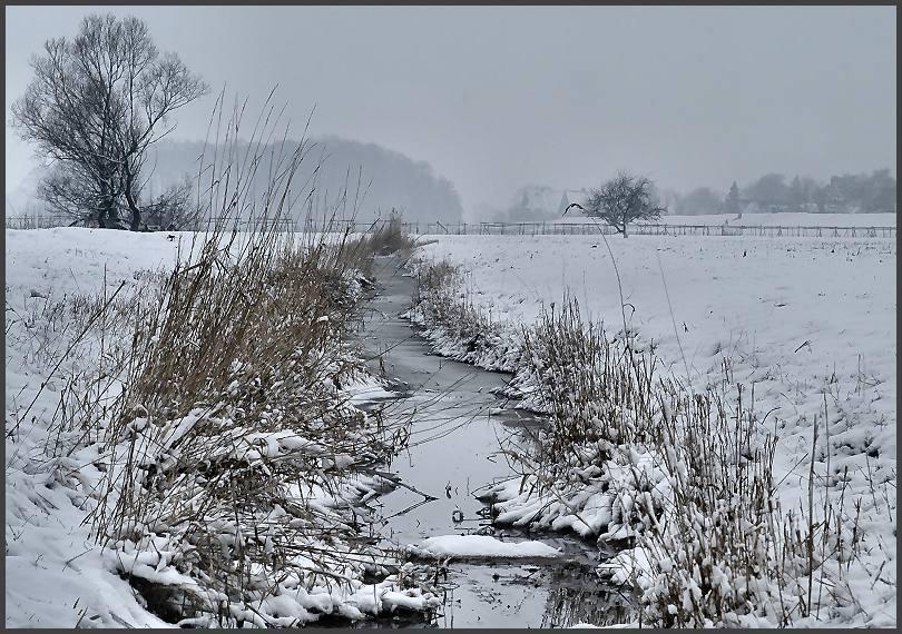 ländliches winteridyll