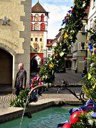 Laetaresonntag am Stadtbrunnen in Wangen/ Allgäu