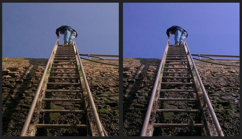 Lagepeilen vorm Abstieg
