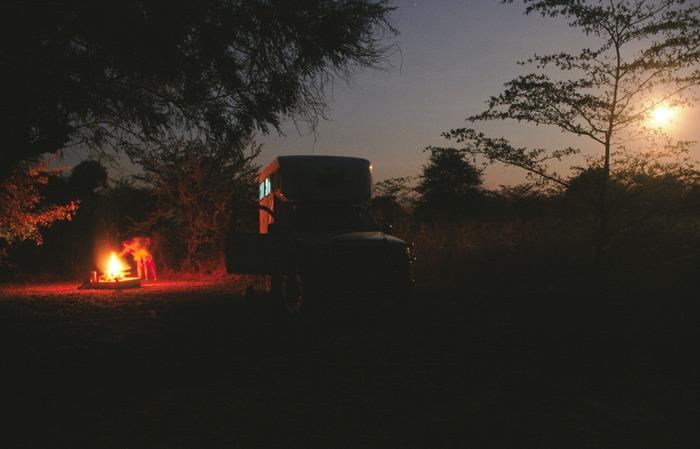 Lagerfeuer im Caprivi