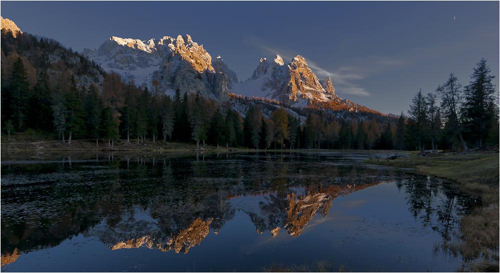 Lago Antorno mit Cadini-Dolomiten