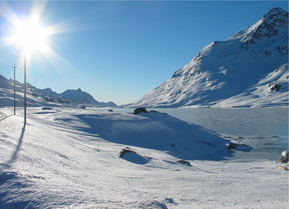 Lago Bianco im Winter