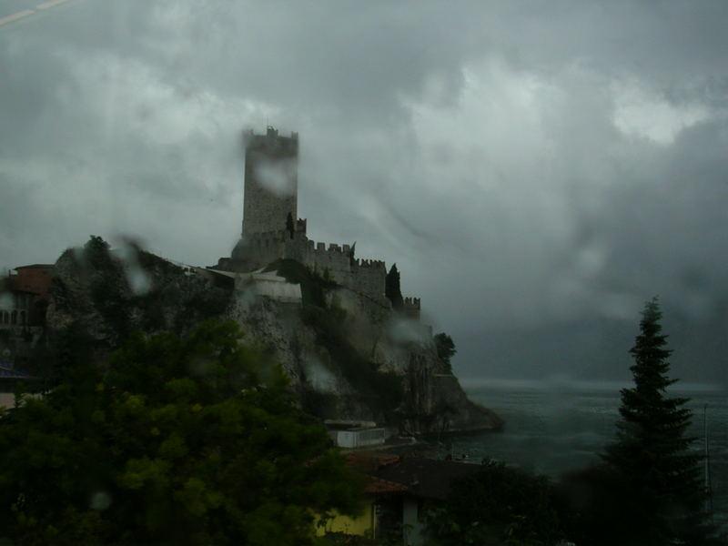 Lago di Garda, Italia - Spring storm