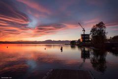 Lago di Varese, tramonto