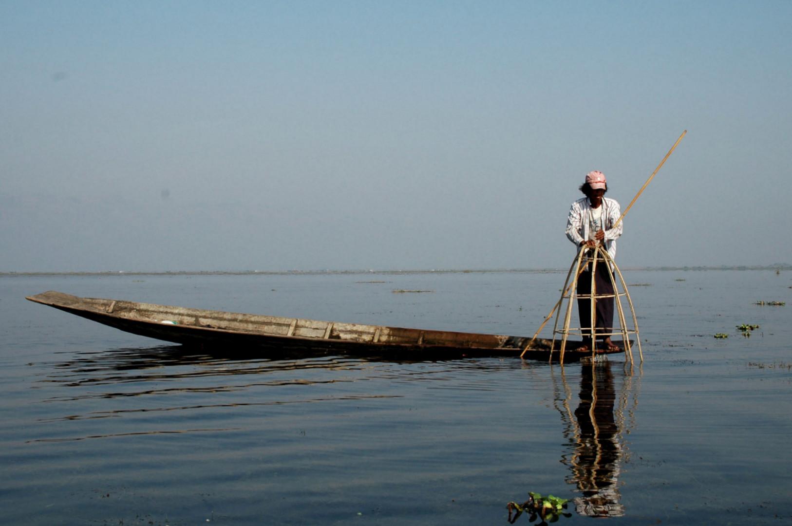 Lago Inle. pescadores
