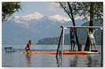 Lago Maggiore mit Hochwasser