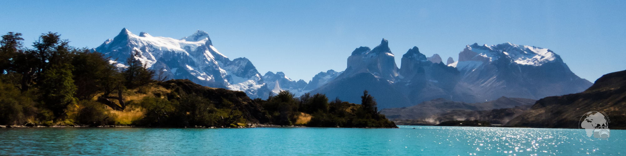 Lago Pehoé vor den Torres del Paine