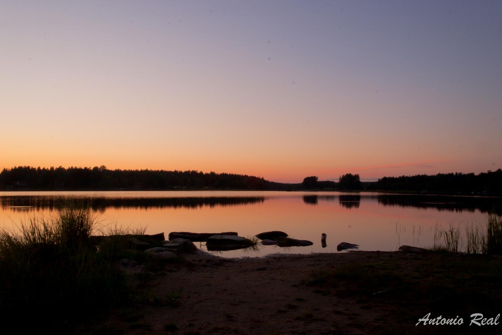 Lago Røones Sjøen en Øriej -Oslo (Noruega)