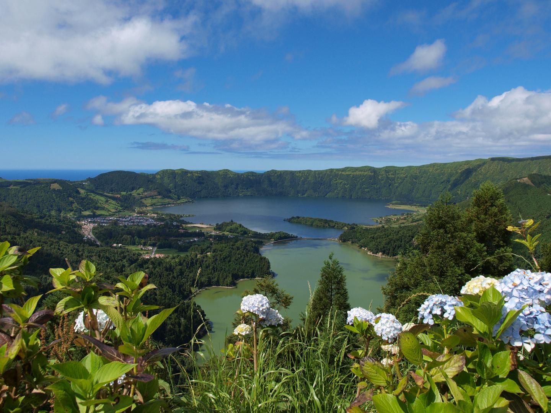 Lago verde und Lago azul, Cete Cidades, Sao Miguel