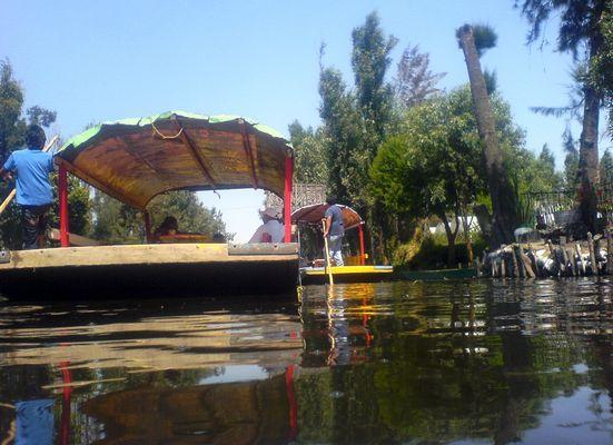 Lago Xochimilco en México D.F.