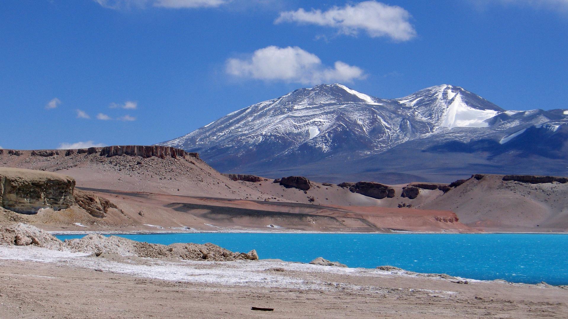 Laguna Verde auf 4400m Atacama Hochland Chile