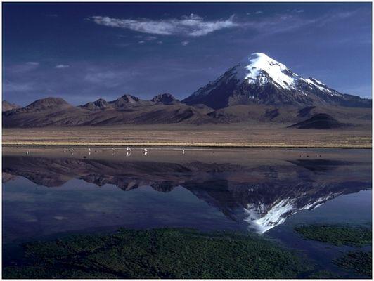 Lagunas mit Sajama (6500m)