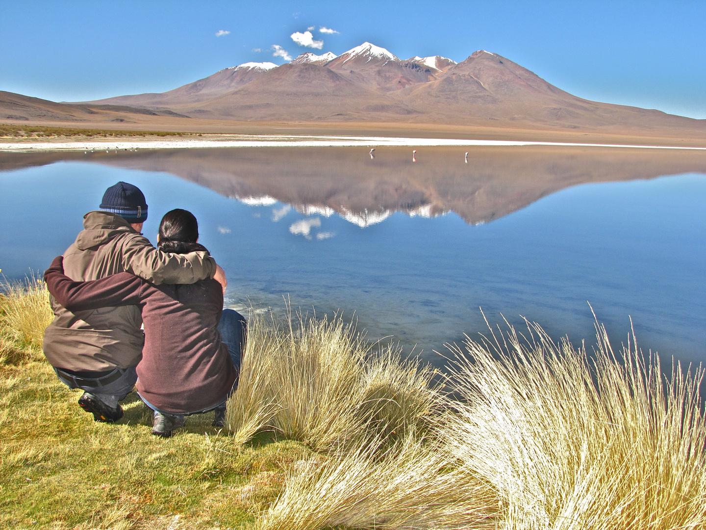 Lagune in Bolivien