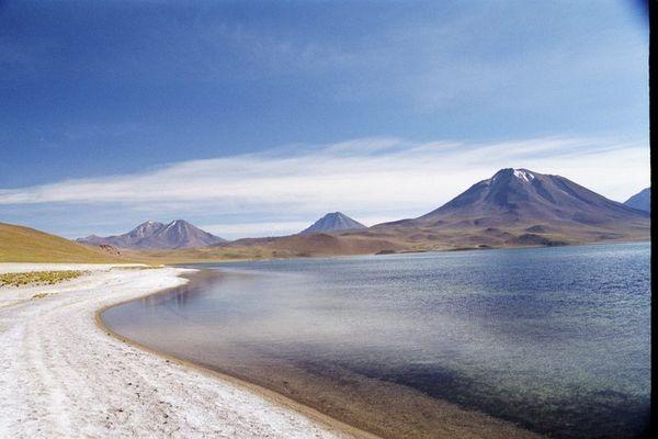 Lagune Miscanti nahe Socaire (100 km von San Pedro de Atacama