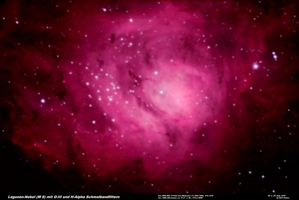Lagunen Nebel M8 im Sternbild Schütze