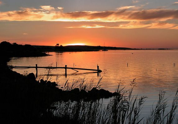 Lake Albert im Sonnenuntergang