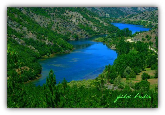 Lake landscape. Almus Tokat-Turkiye