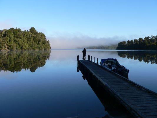 Lake Mapourika...auf dem Weg zum Franz-Josef Gletscher