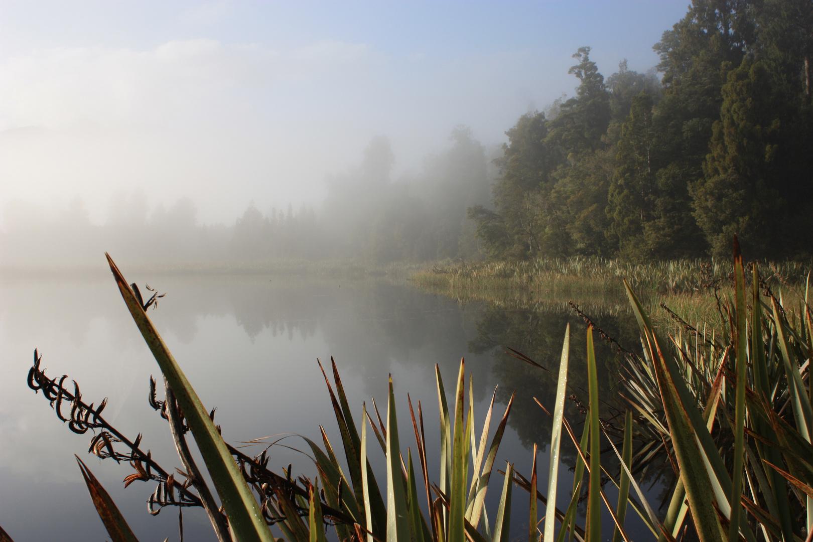 Lake Matheson im Nebel