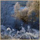 Lakeside at Kielder in winter