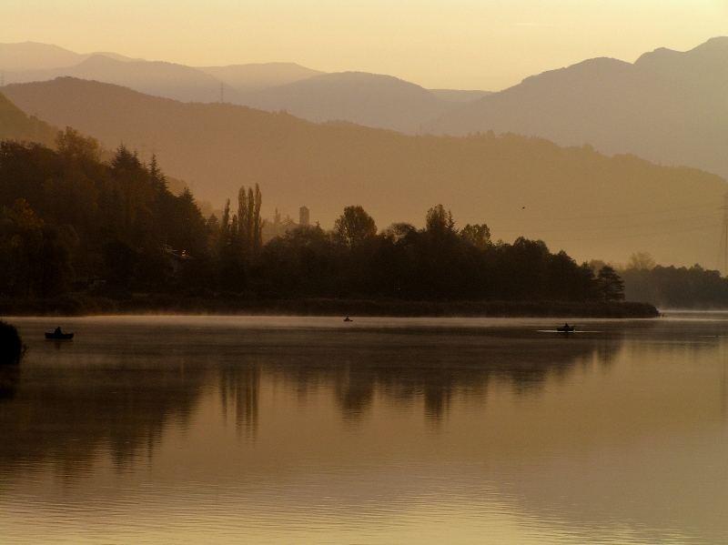 l'alba a Endine