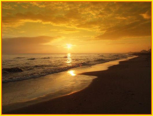 L'alba a Riccione