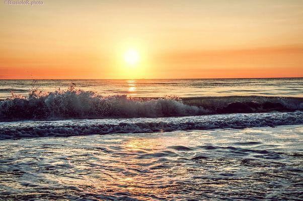 L'alba di alcuni giorni fa..Rosolina Mare