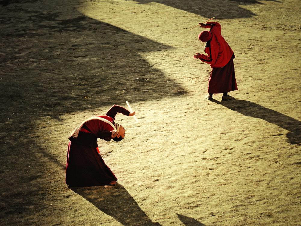 lama dancers