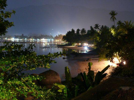 Lamai Beach at night, Koh Samui, Bay View Ressort