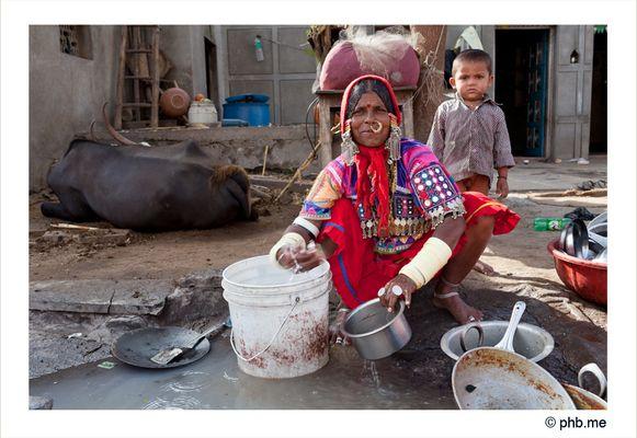Lambanis Woman, village à côté de Bijapur. Karnataka - India