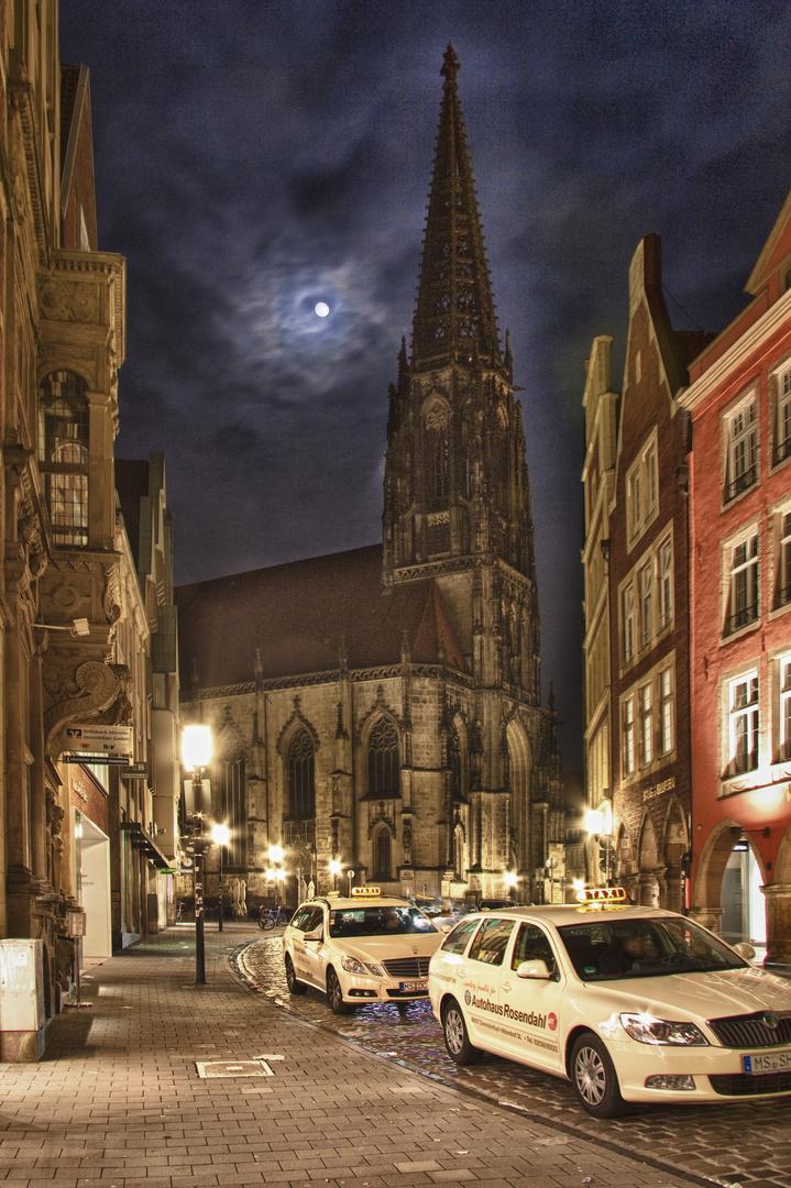 Lambertikirche in Münster by Night