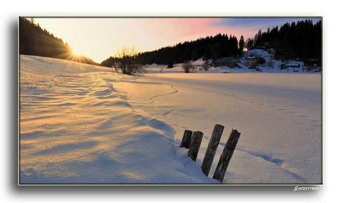 Lamoura la neige...