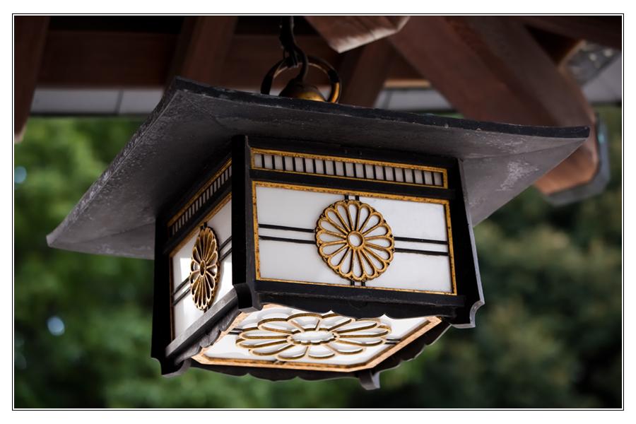 Lampe im Meiji Schrein, Tokyo
