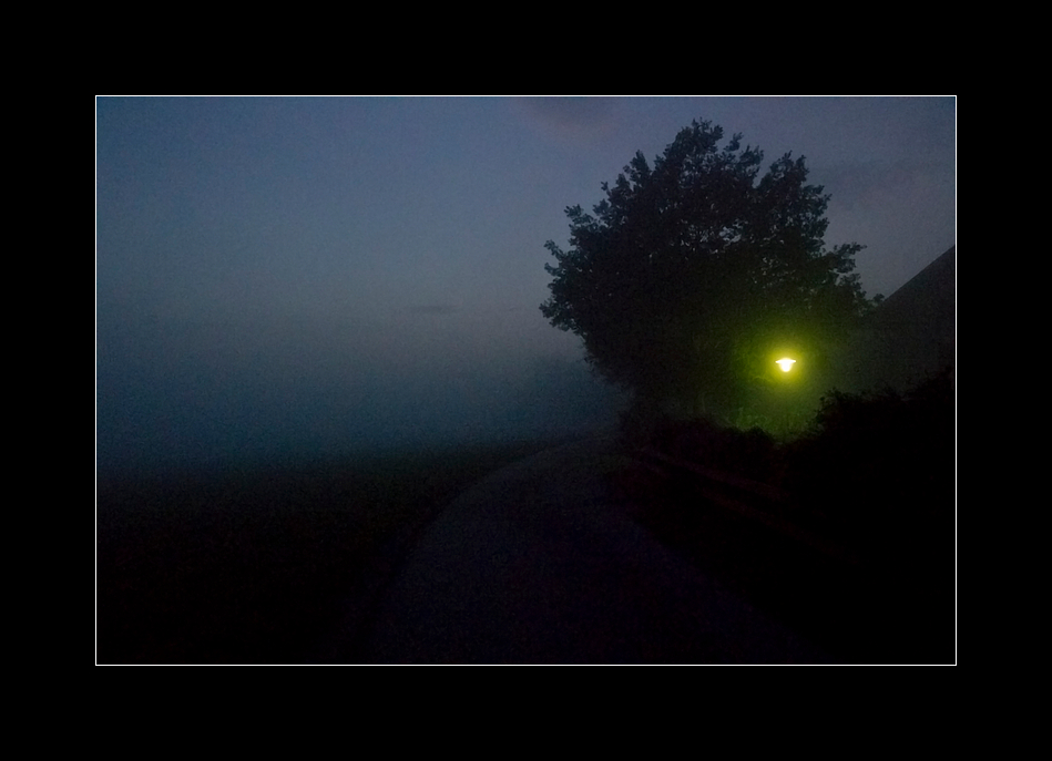 Lampe im Nebel