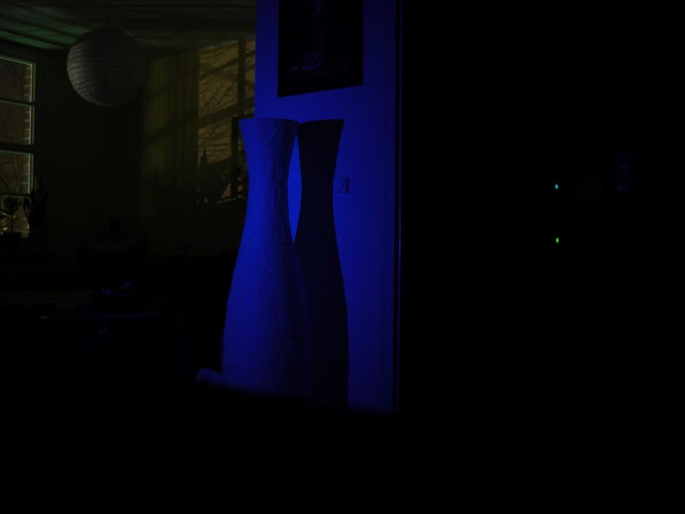 Lampe in Blau
