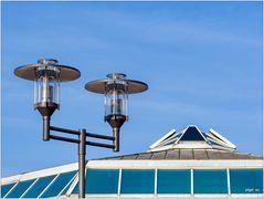 Lampe mit Dach