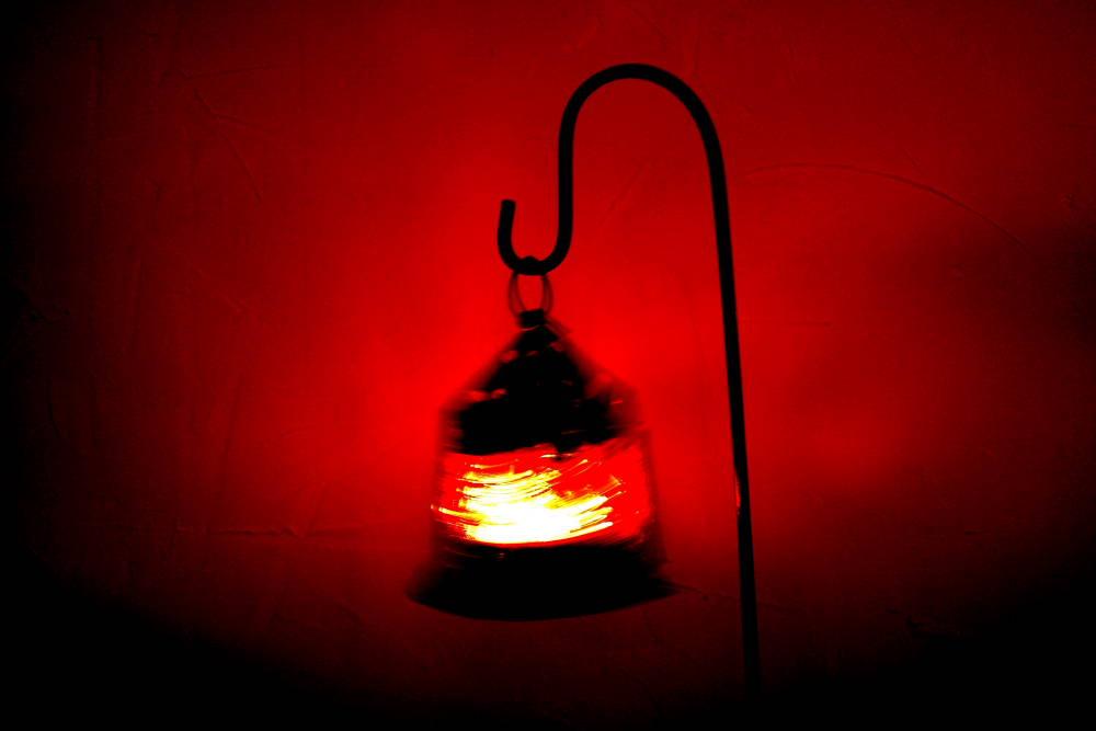 Lampe mit Schwung