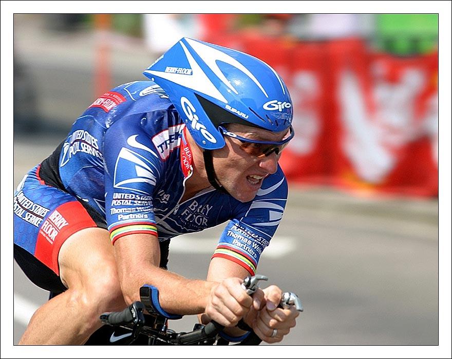 Lance Armstrong beim Paarzeitfahren in Karlsruhe